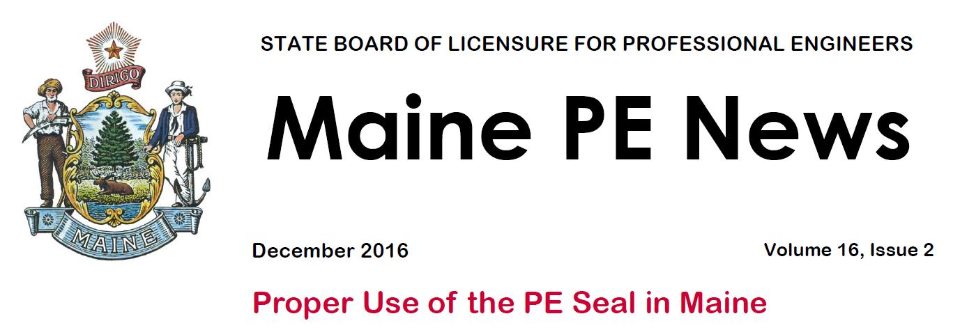 Maine PE Board